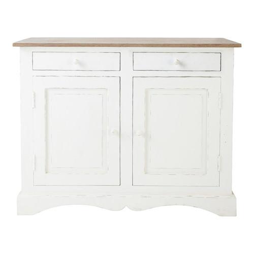 buffet en manguier blanc l 110 cm aubagne maisons du monde. Black Bedroom Furniture Sets. Home Design Ideas
