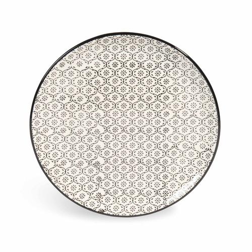 dessertteller chiang mai aus keramik d 21 cm mikromotiv schwarz wei maisons du monde. Black Bedroom Furniture Sets. Home Design Ideas