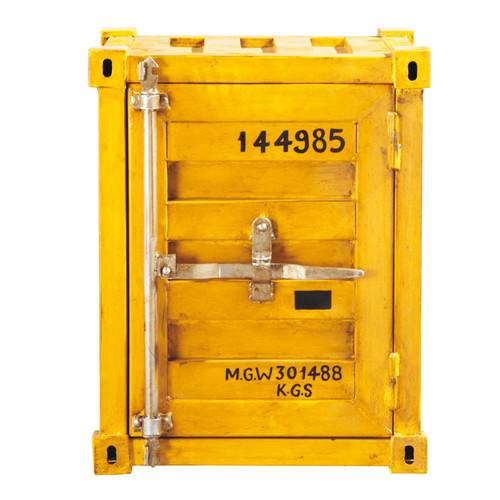 Bout de canap jaune container carlingue maisons du monde for Container maison du monde