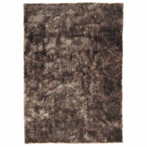 Tapis poils longs en tissu beige 140 x 200 cm lumi re for Maison du monde 974