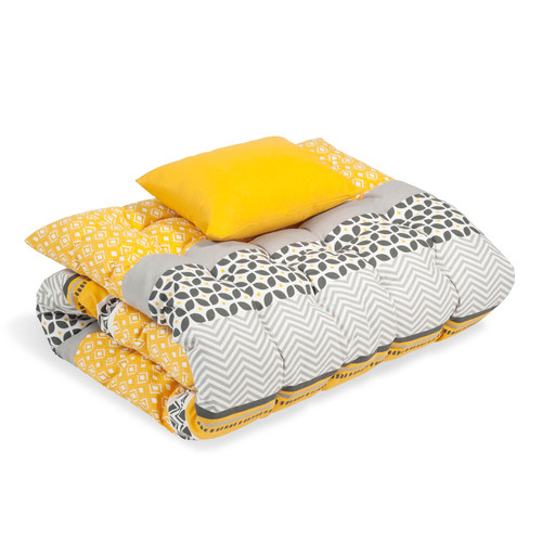 matelas bain de soleil en coton jaune gris 60 x 170 cm. Black Bedroom Furniture Sets. Home Design Ideas