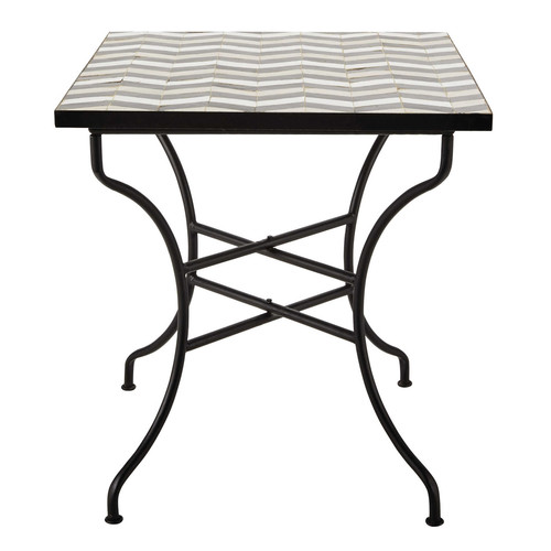 table carr e de salle manger en zellige l 70 cm zelie maisons du monde. Black Bedroom Furniture Sets. Home Design Ideas