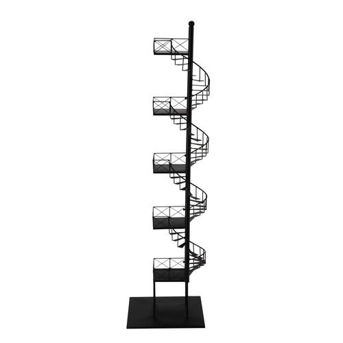 regal dawson aus metall h 154 cm schwarz maisons du monde. Black Bedroom Furniture Sets. Home Design Ideas