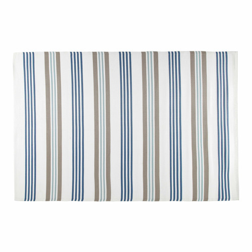 Tapis d 39 ext rieur en polypropyl ne beige et bleu 180 x 270 for Tapis exterieur bleu