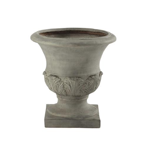 Coupe de jardin en r sine grise h 46 cm medicis maisons - Maceteros de resina ...