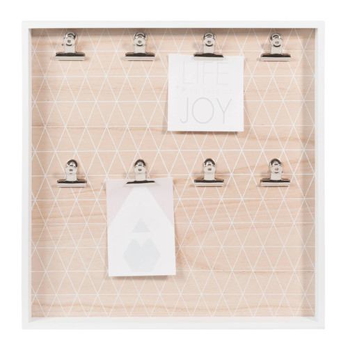 p le m le photo en bois blanc 40 x 40 cm graphic pastel maisons du monde. Black Bedroom Furniture Sets. Home Design Ideas