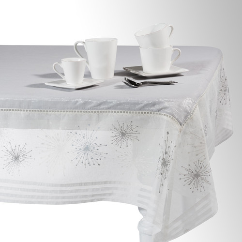 nappe en coton blanche 150 x 250 cm clat maisons du monde. Black Bedroom Furniture Sets. Home Design Ideas