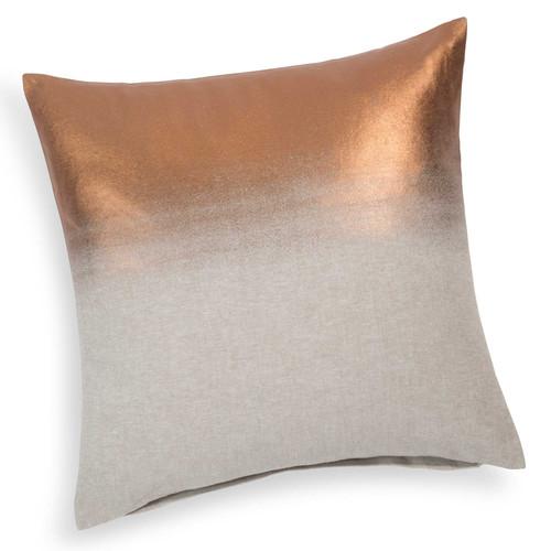 housse de coussin en coton beige cuivre 40 x 40 cm manna. Black Bedroom Furniture Sets. Home Design Ideas