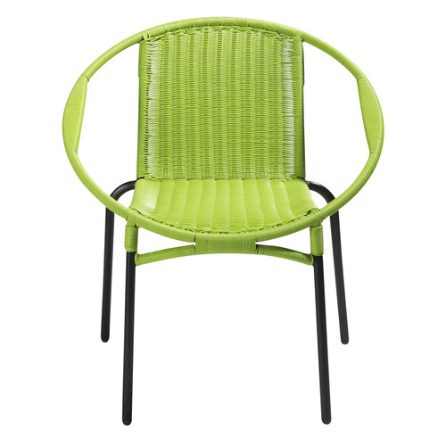 fauteuil de jardin rond vert rio maisons du monde. Black Bedroom Furniture Sets. Home Design Ideas