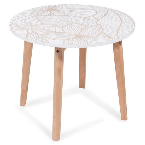 Canape en bois blanc for Bout de canape maison du monde