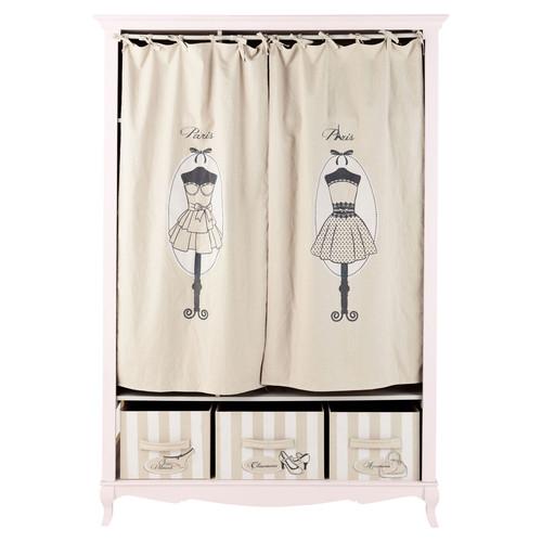 dressing en bois rose l 130 cm paris mode maisons du monde. Black Bedroom Furniture Sets. Home Design Ideas