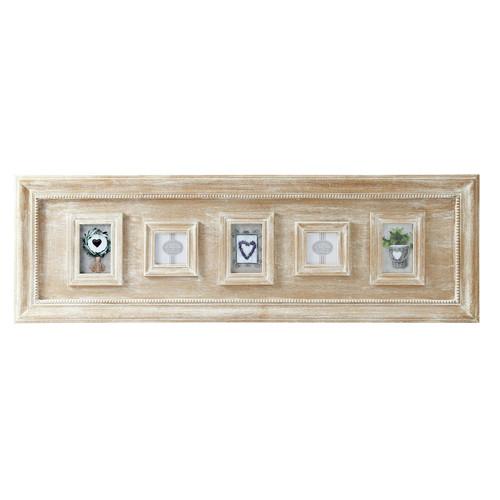 cadre photo multivues en bois de paulownia 42 x 130 cm fanny maisons du monde. Black Bedroom Furniture Sets. Home Design Ideas