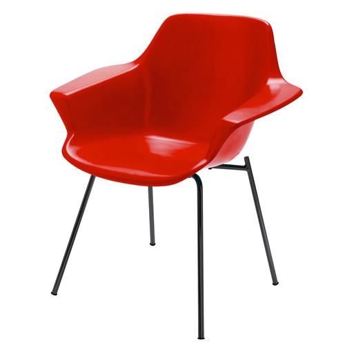 fauteuil guariche en fibre de verre rouge. Black Bedroom Furniture Sets. Home Design Ideas