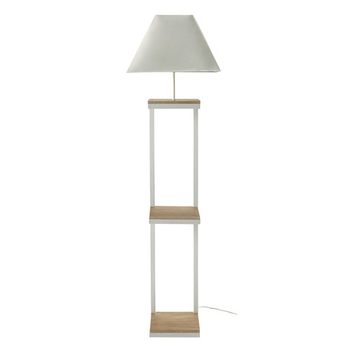 lampadaire en m tal et coton blanc h 158 cm kenneth maisons du monde. Black Bedroom Furniture Sets. Home Design Ideas