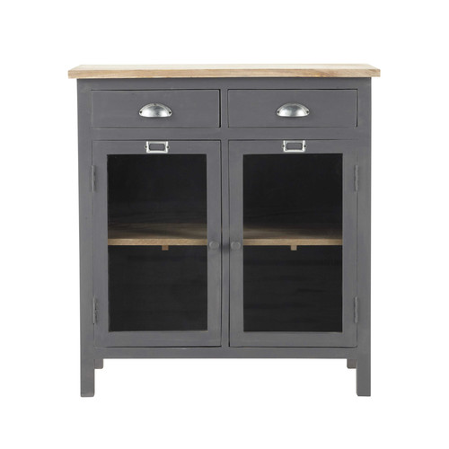 garde manger en bois gris l 80 cm chablis maisons du monde. Black Bedroom Furniture Sets. Home Design Ideas