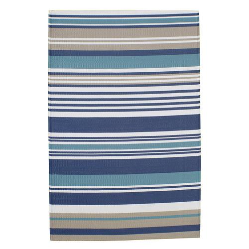 tapis d 39 ext rieur rayures en polypropyl ne bleu 180 x. Black Bedroom Furniture Sets. Home Design Ideas