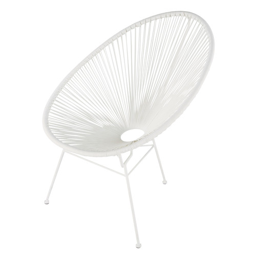 fauteuil de jardin rond blanc copacabana maisons du monde. Black Bedroom Furniture Sets. Home Design Ideas