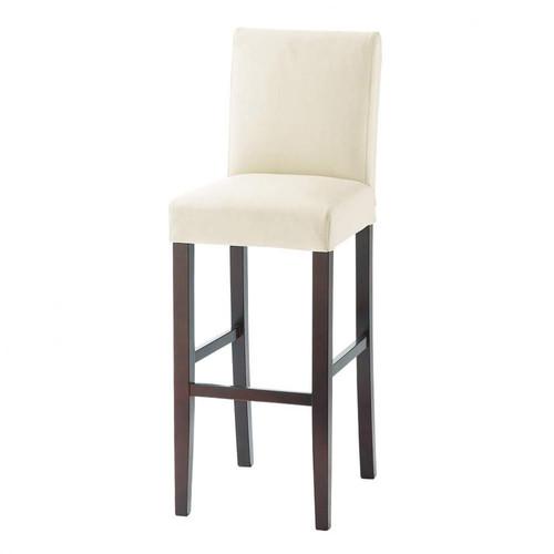 chaise de bar cuir boston maisons du monde. Black Bedroom Furniture Sets. Home Design Ideas