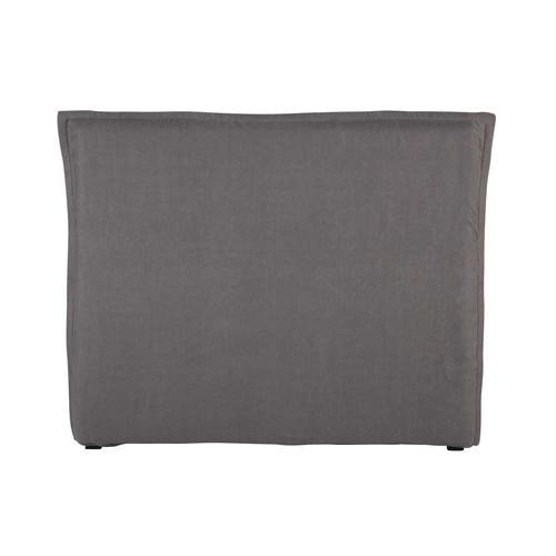 housse de t te de lit 140 en lin lav grise morphee maisons du monde. Black Bedroom Furniture Sets. Home Design Ideas
