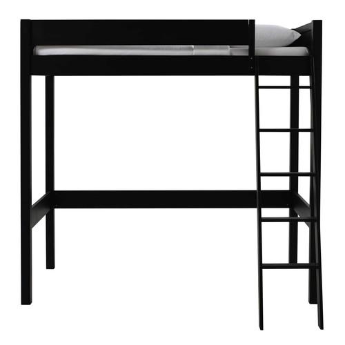 lit mezzanine 90 x 190 cm en bois noir newport maisons. Black Bedroom Furniture Sets. Home Design Ideas