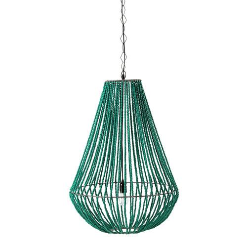 suspension en m tal et bois verte d 56 cm apucarana maisons du monde. Black Bedroom Furniture Sets. Home Design Ideas