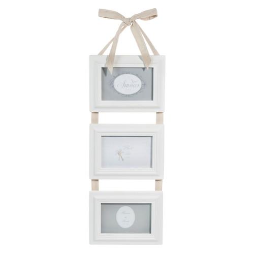 Cadre photo triple blanc Hortense Maisons du Monde