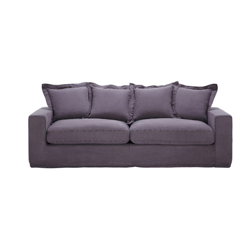 Canap 3 4 places convertible lin taupe barnabe maisons - Le bon coin canape convertible 3 places ...