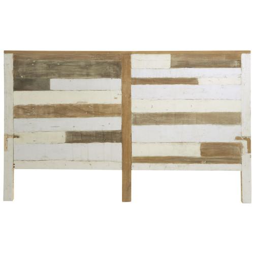 T te de lit en bois recycl l 160 cm arcachon maisons du - Tete de lit bois recycle ...