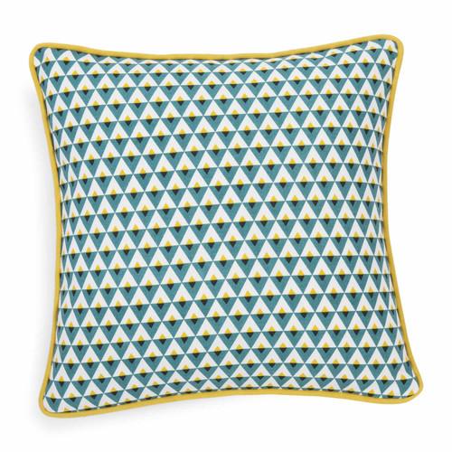 Housse de coussin en coton bleu 40 x 40 cm hilton for Housse de coussin bleu