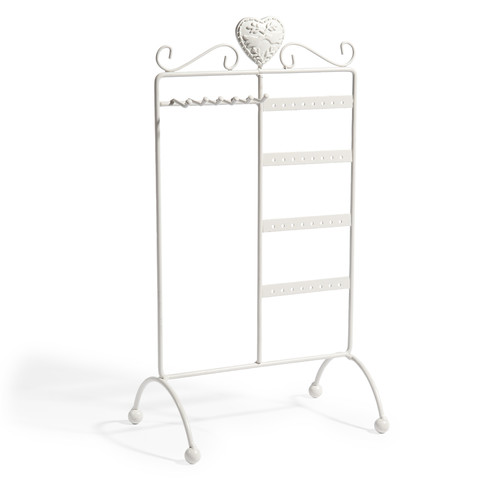 portagioie vetrina bianco cuore. Black Bedroom Furniture Sets. Home Design Ideas