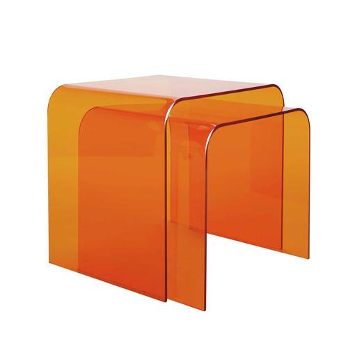 2 tavolini da salotto arancioni columbia maisons du monde for Maison du monde tavolini da salotto