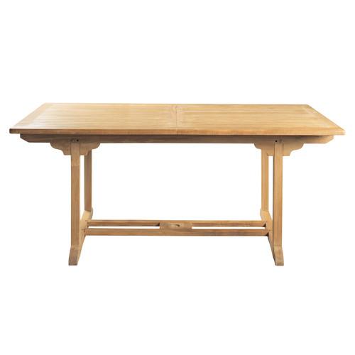 Table de jardin rectangulaire teck l 200 cm ol ron - Table jardin maison du monde ...