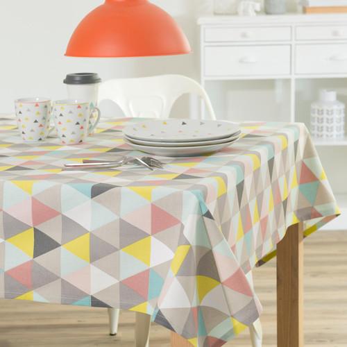 nappe en coton multicolore 150 x 250 cm lucia maisons du monde. Black Bedroom Furniture Sets. Home Design Ideas