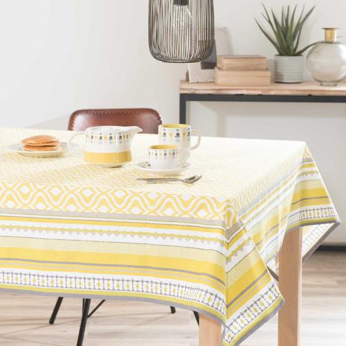 nappe en coton jaune 150 x 250 cm taina maisons du monde. Black Bedroom Furniture Sets. Home Design Ideas