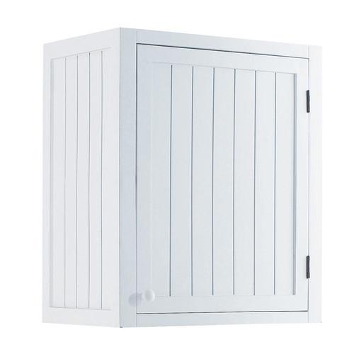 Mobile alto bianco da cucina in legno con apertura a - Mobile cucina bianco ...