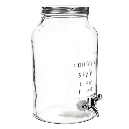 bonbonne avec robinet en verre h 30 cm maisons du monde. Black Bedroom Furniture Sets. Home Design Ideas