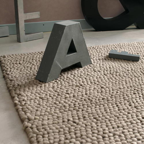 tapis en laine beige 200 x 300 cm industry maisons du monde. Black Bedroom Furniture Sets. Home Design Ideas