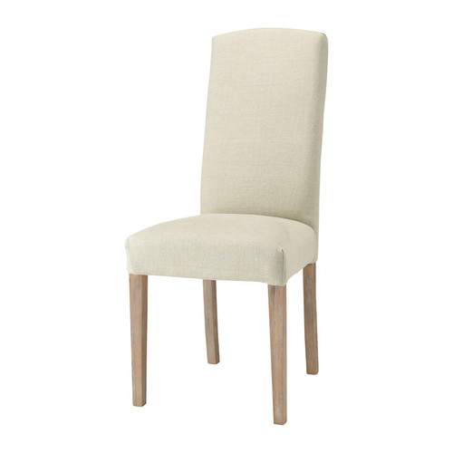 Housse de chaise lin alice maisons du monde for Housse de chaise carrefour