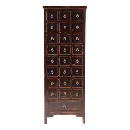 cabinet multi tiroirs noir tao maisons du monde. Black Bedroom Furniture Sets. Home Design Ideas