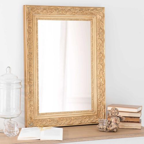 Miroir En Bois De Paulownia Dor H 70 Cm Valentine Maisons Du Monde