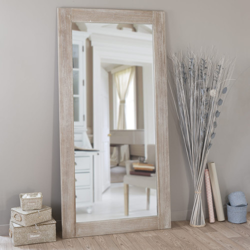 specchio natura biaccato 180x90 maisons du monde. Black Bedroom Furniture Sets. Home Design Ideas
