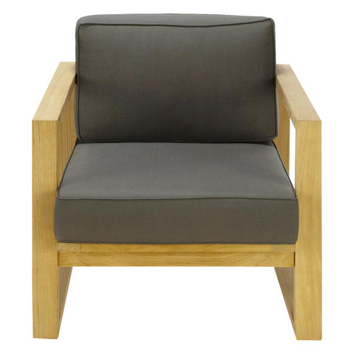 fauteuil de jardin teck gris cagliari maisons du monde. Black Bedroom Furniture Sets. Home Design Ideas