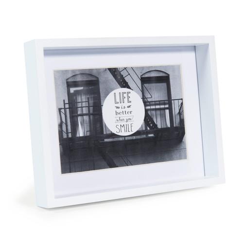 cadre photo en bois blanc 18 x 23 cm malmo maisons du monde. Black Bedroom Furniture Sets. Home Design Ideas