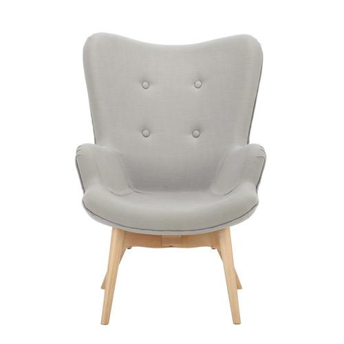 fauteuil vintage enfant en bois et tissu gris iceberg. Black Bedroom Furniture Sets. Home Design Ideas