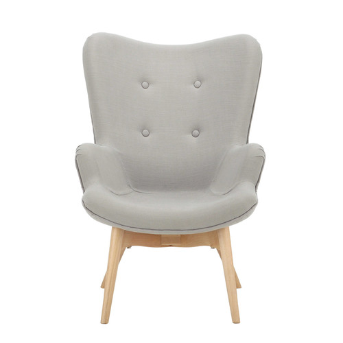 fauteuil vintage enfant en bois et tissu gris iceberg maisons du monde. Black Bedroom Furniture Sets. Home Design Ideas