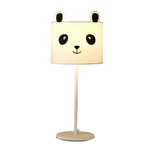 lampe de chevet en mtal blanc h cm panda maisons du monde with maison du monde lampe de chevet. Black Bedroom Furniture Sets. Home Design Ideas