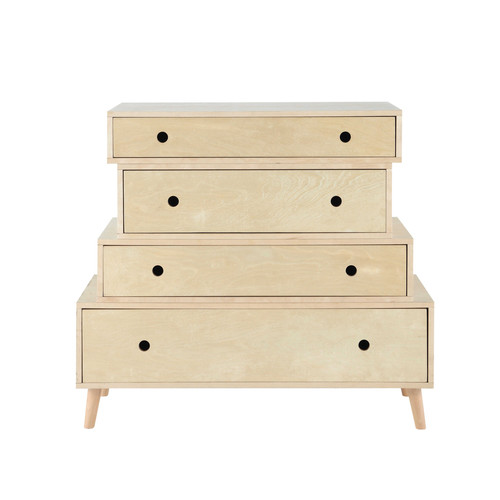 commode vintage en bois l 95 cm dekale maisons du monde. Black Bedroom Furniture Sets. Home Design Ideas