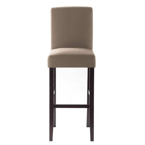 Housse de chaise taupe boston maisons du monde - Housse assise chaise ...