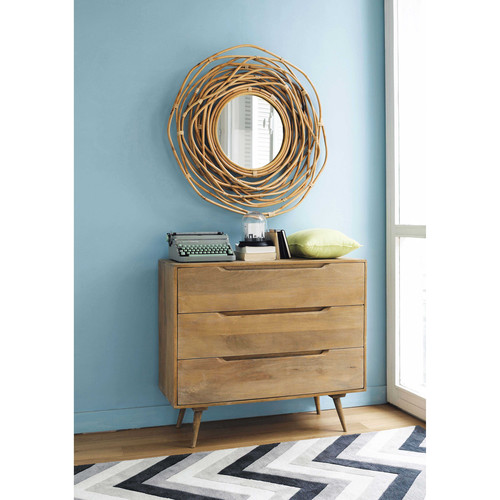 miroir rond en bambou h 90 cm sumba maisons du monde. Black Bedroom Furniture Sets. Home Design Ideas