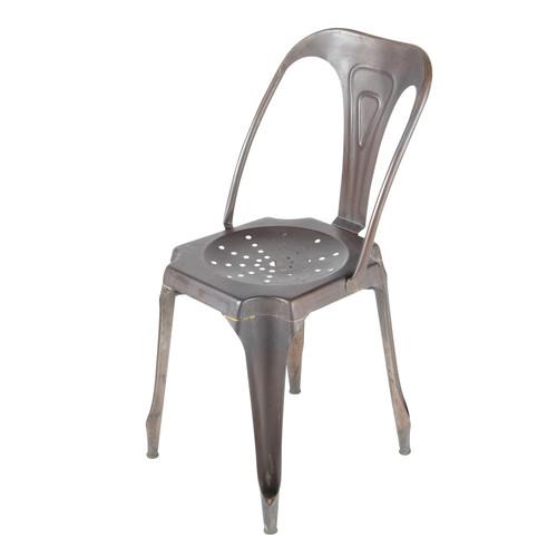 Chaise de jardin en m tal noire multipl 39 s maisons du monde for Chaise jardin metal